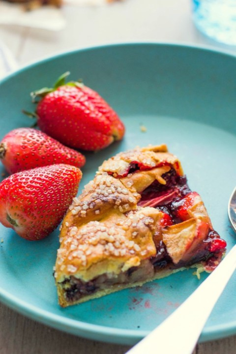 Strawberry & Apple Galette 4