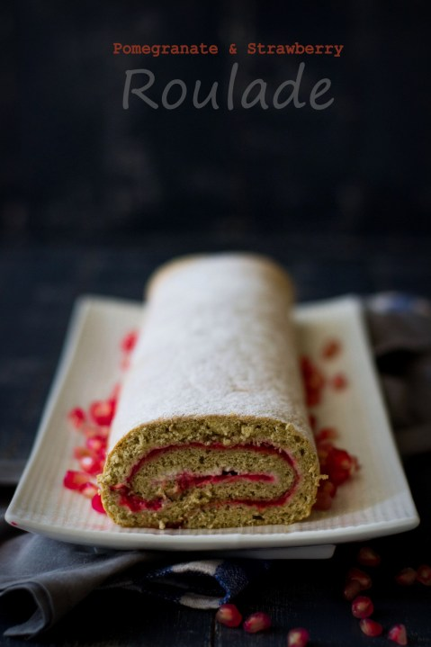 Pomegranate & Strawberry Roulade 4