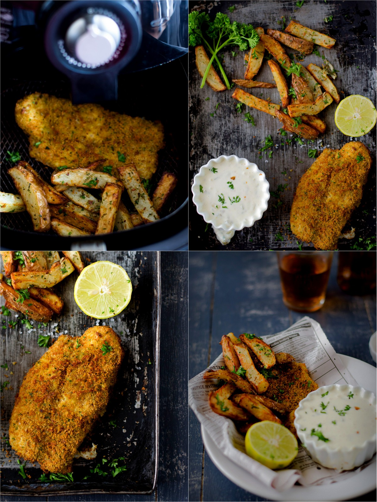 Fish & Chips With Tartar Sauce…The Airfryer Way