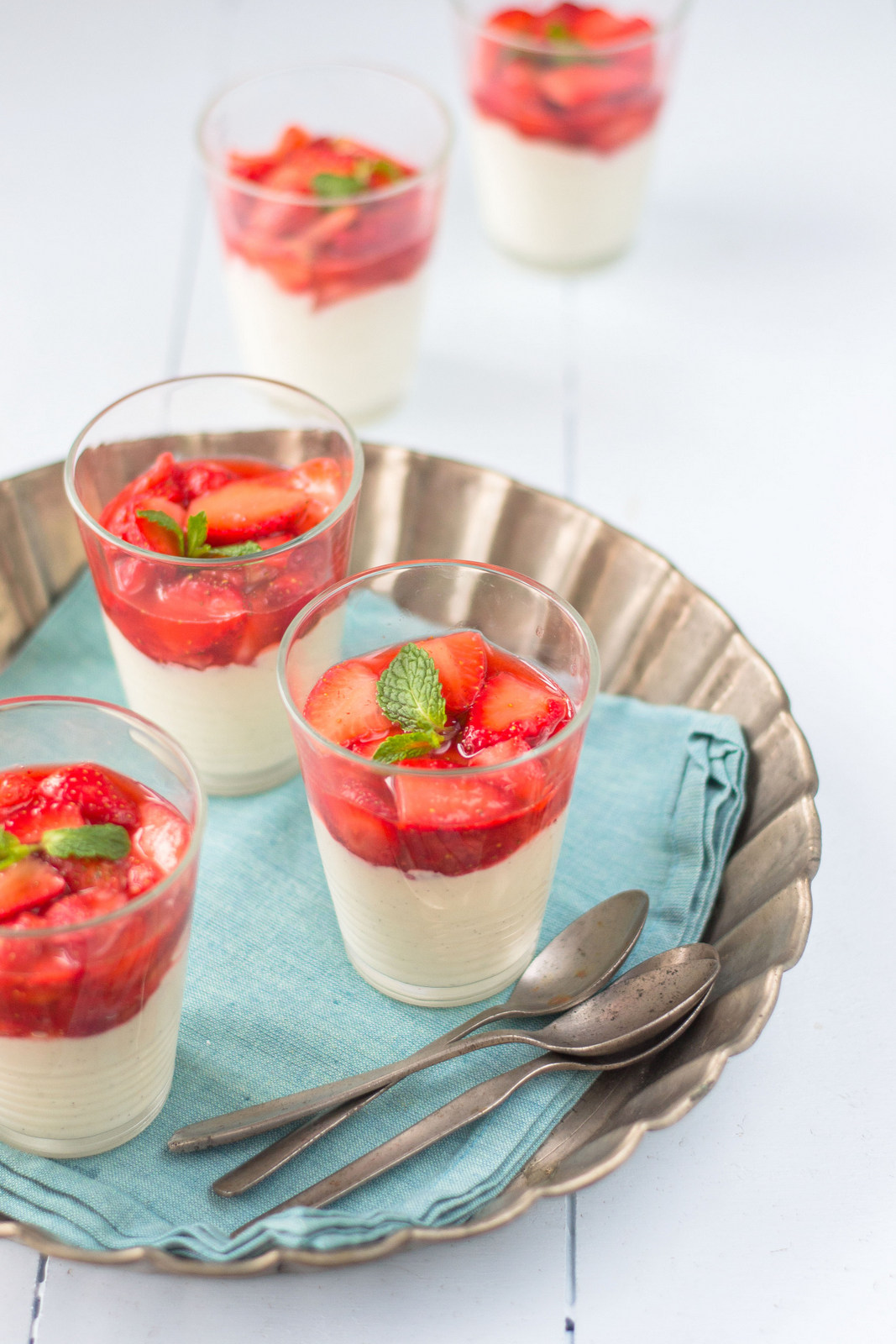 Lemon Mousse With Basil-Macerated Strawberries Recipes — Dishmaps
