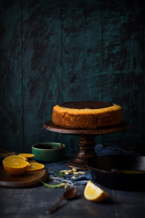 Orange Yogurt Semolina Cake