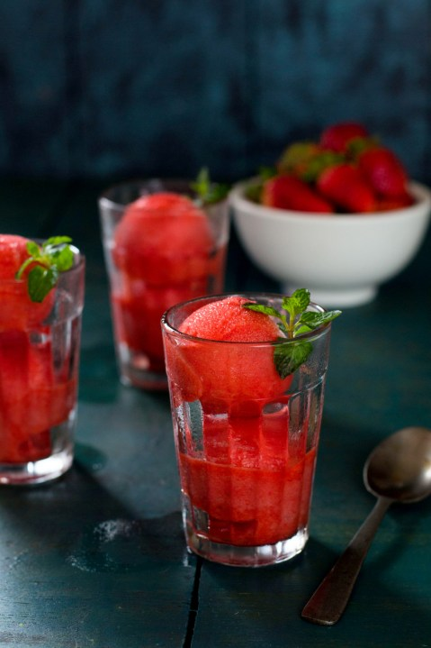 Strawberry & Orange Sorbet
