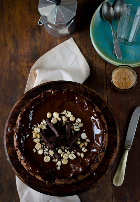 Flourless Chocolate Hazelnut Cake, Gluten Free