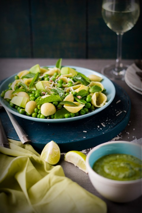 Spring Pasta With Mint & Basil Pesto